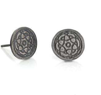 Maro - Oxidised Silver Byzantine Studs