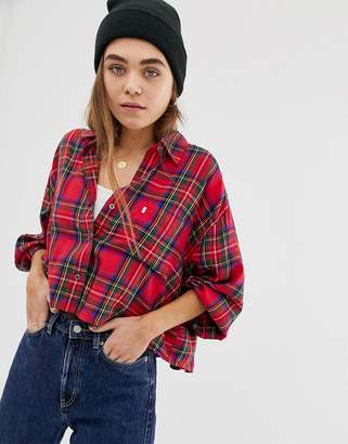 Levi's cropped Selah shirt in check