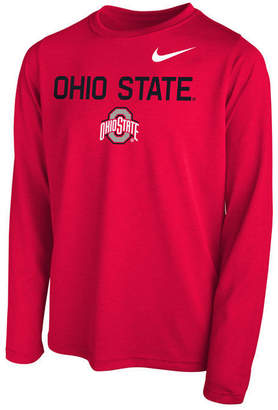 Nike Ohio State Buckeyes Legend Long Sleeve T-Shirt, Little Boys (4-7)