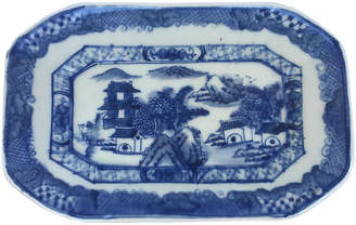 One Kings Lane Vintage Blue & White Chinese Stoneware Platter