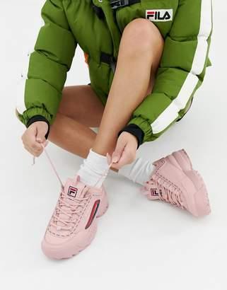 ace26e1fd94 Fila Pink Taped Logo Disruptor 2 Premium Sneakers