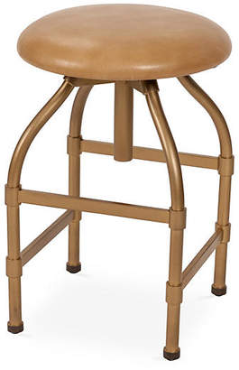 One Kings Lane Clyde Adjustable Stool - Tan Leather