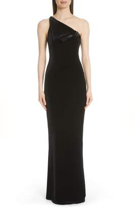 Emporio Armani One Shoulder Gown