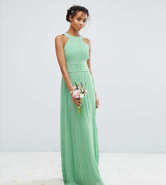 TFNC High Neck Pleated Maxi Bridesmaid Dress
