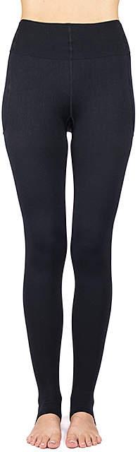 Black RejuvaWear® 15-20 mmHg Compression Stirrup Leggings - Women