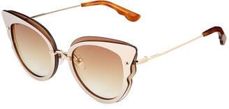 Cat Eye Diff Eyewear Delilah Metal Cat-Eye Sunglasses
