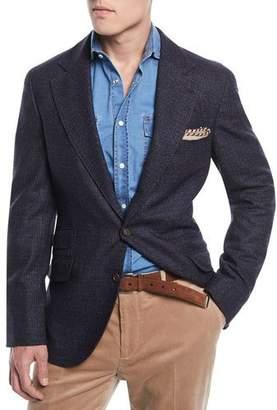 Brunello Cucinelli Bicolor Micro-Check Sport Jacket