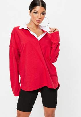 Missguided Oversized Rugby Tunic Top