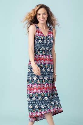 Tribal Sleeveless Maxi Dress