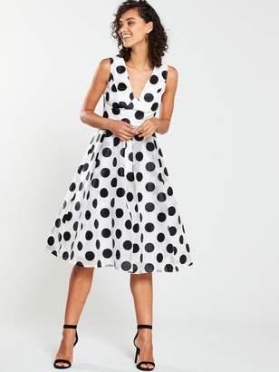 Very Oversized Polka Prom Dress - Spot