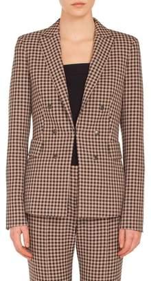Akris Punto Check Jersey Blazer