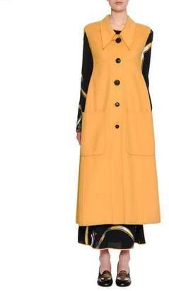 Marni Button-Down Wool-Cashmere Midi Vest