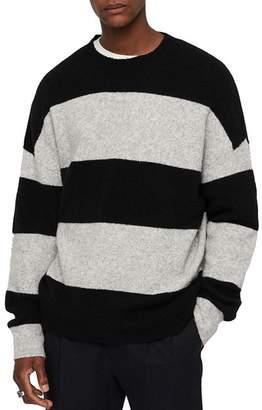 AllSaints Maire Striped Crewneck Sweater