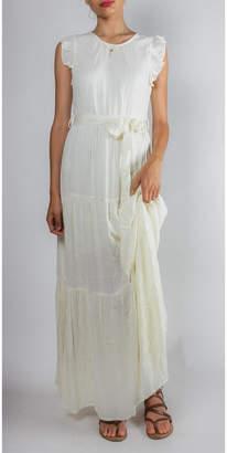 Gilli Ruffled Tie-Waist Maxi-Dress
