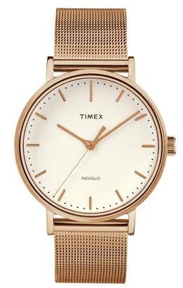 Timex R) Fairfield Mesh Strap Watch, 37mm