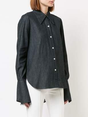 ADAM by Adam Lippes Denim Chambray Cross Back Menswear Shirt