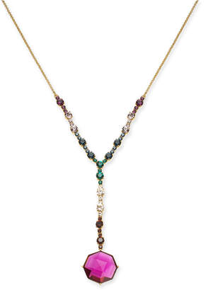 """Kate Spade Gold-Tone Multi-Crystal Lariat Necklace, 16"""" + 3"""" extender"""