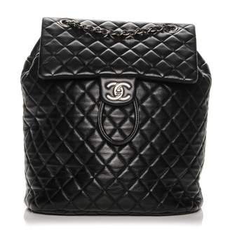 Chanel Urban Spirit Backpack Diamond Quilted Large
