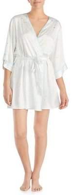Kate Spade Printed Quarter-Sleeve Robe
