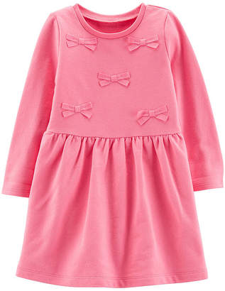 Carter's Bow French Terry Dress - Toddler Girls