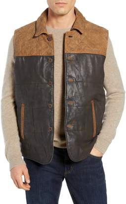 FLYNT Colorblock Quilted Leather Vest