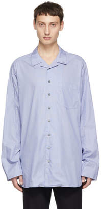 Wooyoungmi Blue Long Strap Shirt