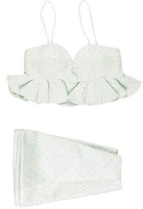Christian Dior Jacquard Mini Skirt Set