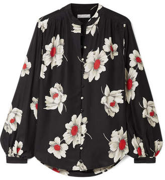 Equipment Cornelia Floral-print Washed-silk Shirt