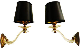 One Kings Lane Vintage French Wall Sconces - Set of 2 - Thomas Brillet Inc.