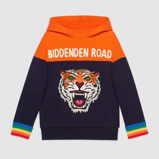 Gucci Children's hooded sweatshirt with appliqués