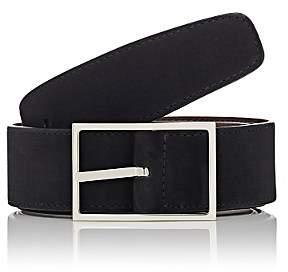 Simonnot Godard Men's Reversible Nubuck Belt-Black, Brown
