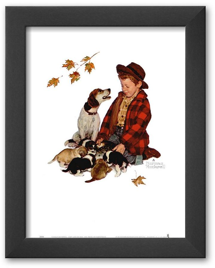 "Art.com Pride of Parenthood"" Framed Art Print by Norman Rockwell"