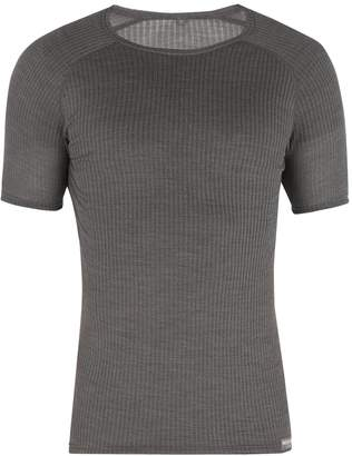 CAFÉ DU CYCLISTE Gabrielle wool and silk-blend T-shirt
