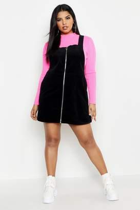 boohoo Plus O Ring Zip Cord Pinafore Dress