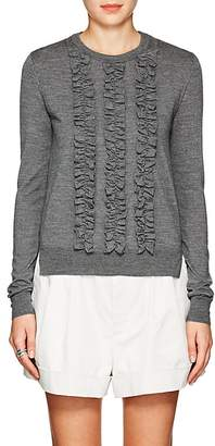 Marc Jacobs WOMEN'S RUFFLED-FRONT WOOL SWEATER