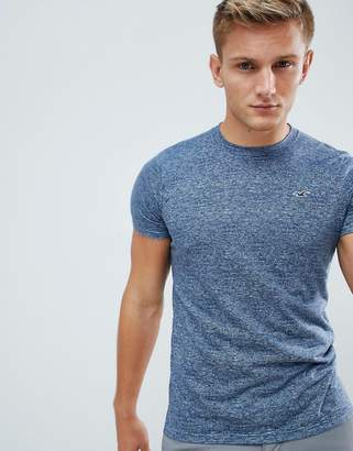 Hollister Muscle Fit Icon Logo T-Shirt in Navy Marl