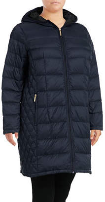 MICHAEL Michael Kors Long Packable Down Jacket