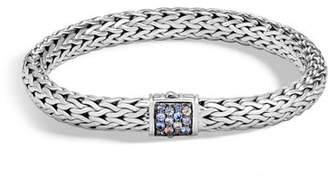 John Hardy Classic Chain Medium Pavé Pusher Clasp Bracelet