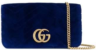 Gucci chevron textured logo clutch