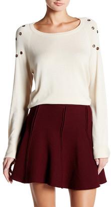 Cullen Grommet Detail Sweater $141.60 thestylecure.com
