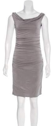 Helmut Lang Ruched Mini Dress