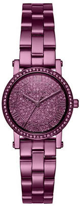 Michael Kors Petite Norie Purple IP and Pave Watch