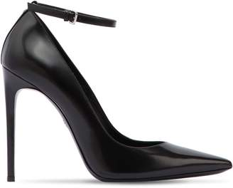 DSQUARED2 110mm Brushed Leather Ankle Strap Pumps