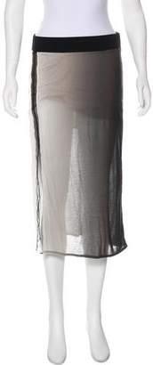 Helmut Lang Jersey Knee-Length Skirt