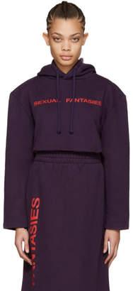 Vetements SSENSE Exclusive Purple Sexual Fantasies Football Shoulder Hoodie