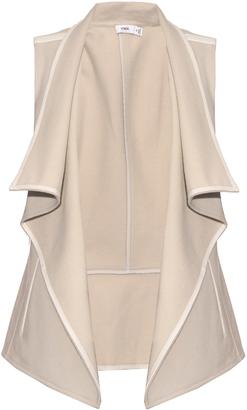 VINCE Leather-trimmed drape-front gilet $495 thestylecure.com