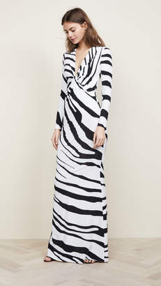 Roberto Cavalli Zebra V Neck Dress