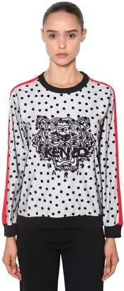 Kenzo Tiger Flocked & Embroidered Sweatshirt