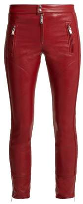 Etoile Isabel Marant Zappery Faux Leather Trousers - Womens - Red