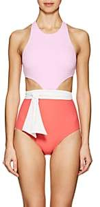 Flagpole Swim Women's Lynn One-Piece Swimsuit With Sash - Pink, Rose, Wht